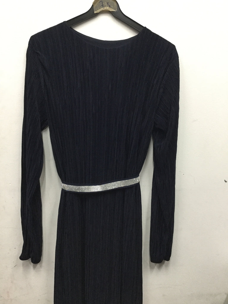 548-long ribbed dress with belt