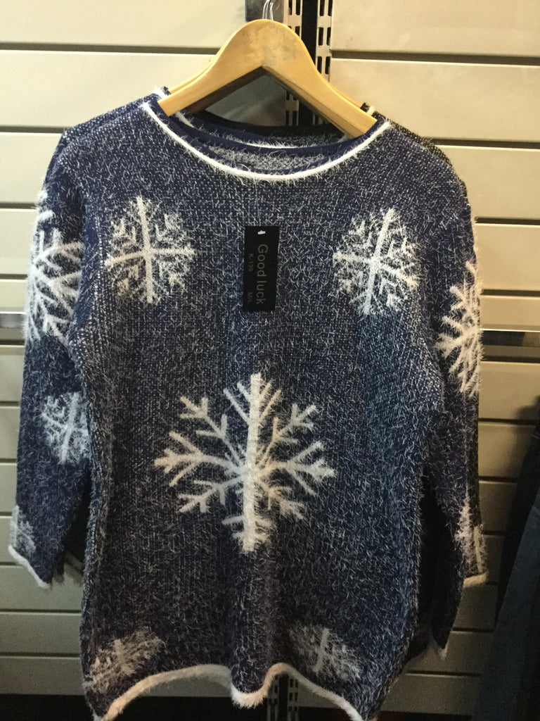 472- Ladies snowflake jumpers