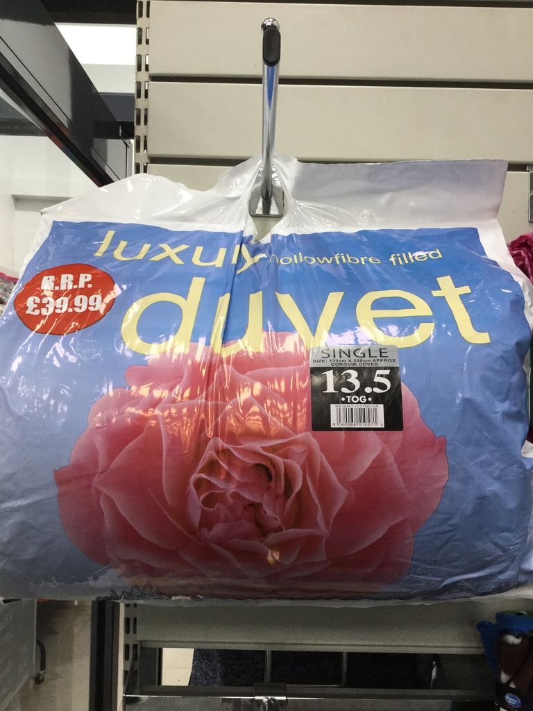044- Luxury single Duvet 13.5 tog