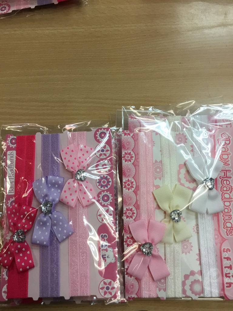 118- baby's headbands 3 piece