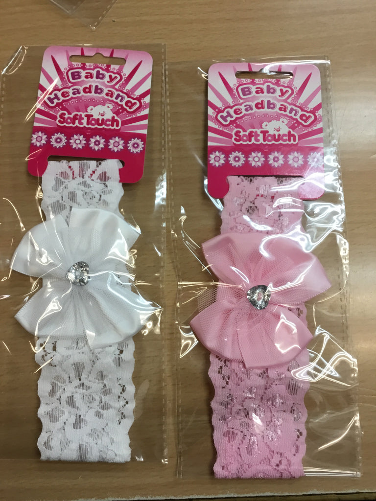 123- baby girls lace headbands