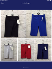626- girls Lycra cycle shorts