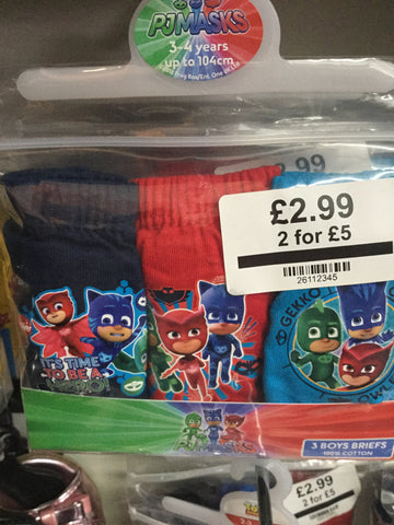 261-PJ Masks briefs boys