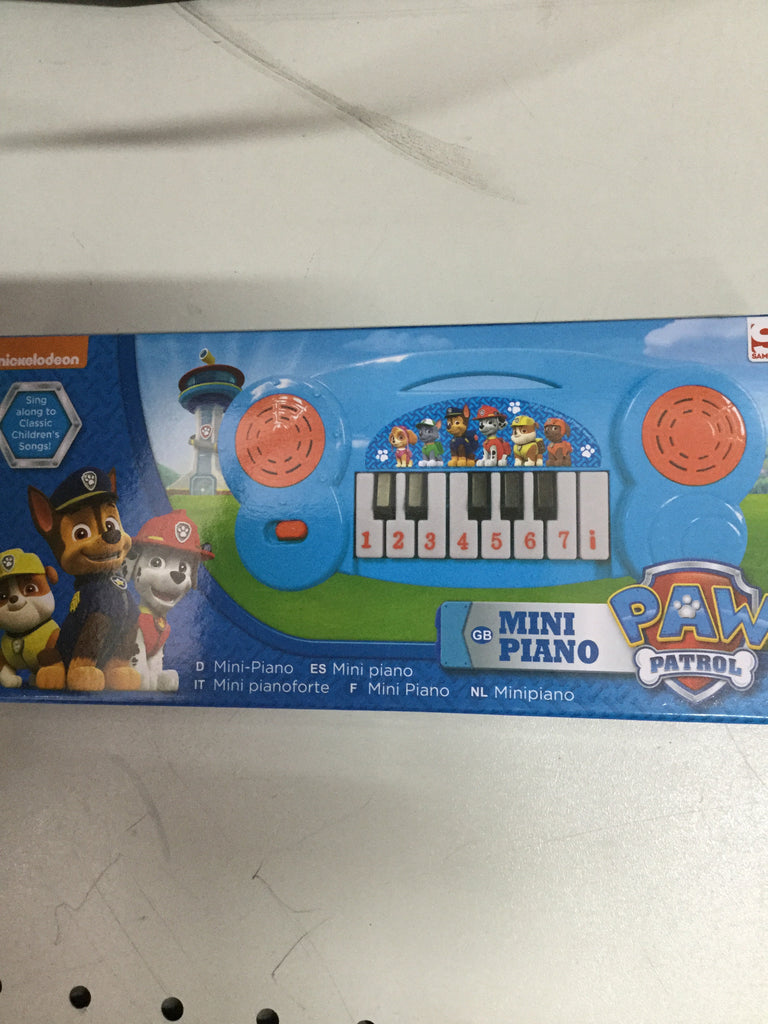 720- mini pianos assorted character (paw patrol)