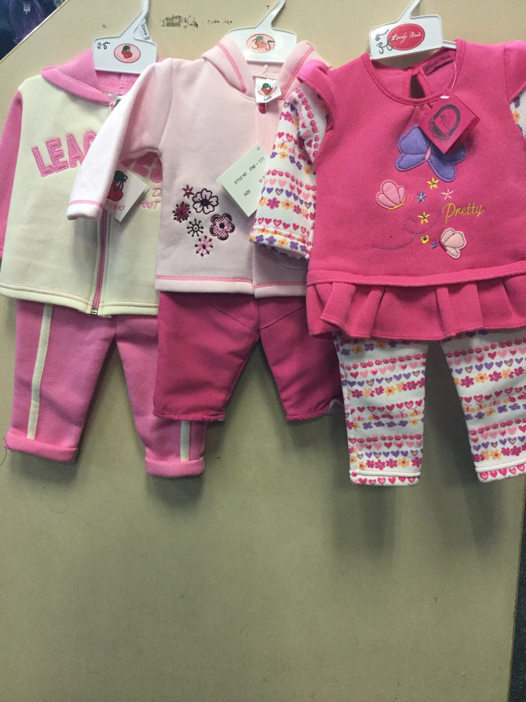 459- Various baby girls fleece top and trousers