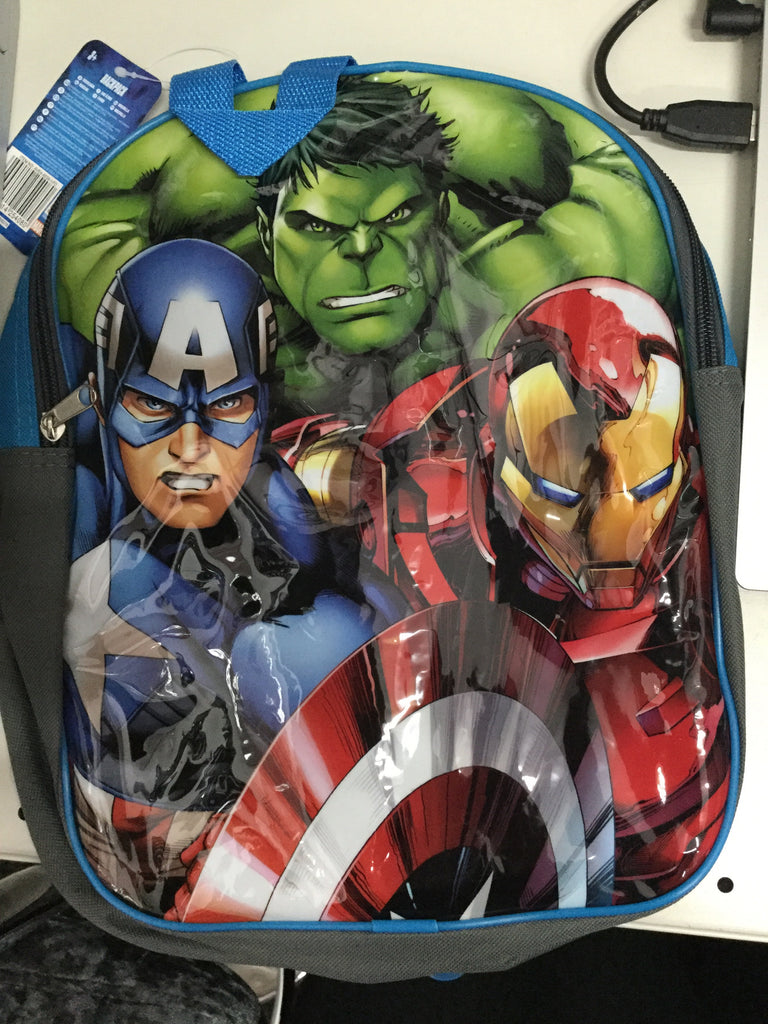 694- Avengers back pack hulk iron and capt america