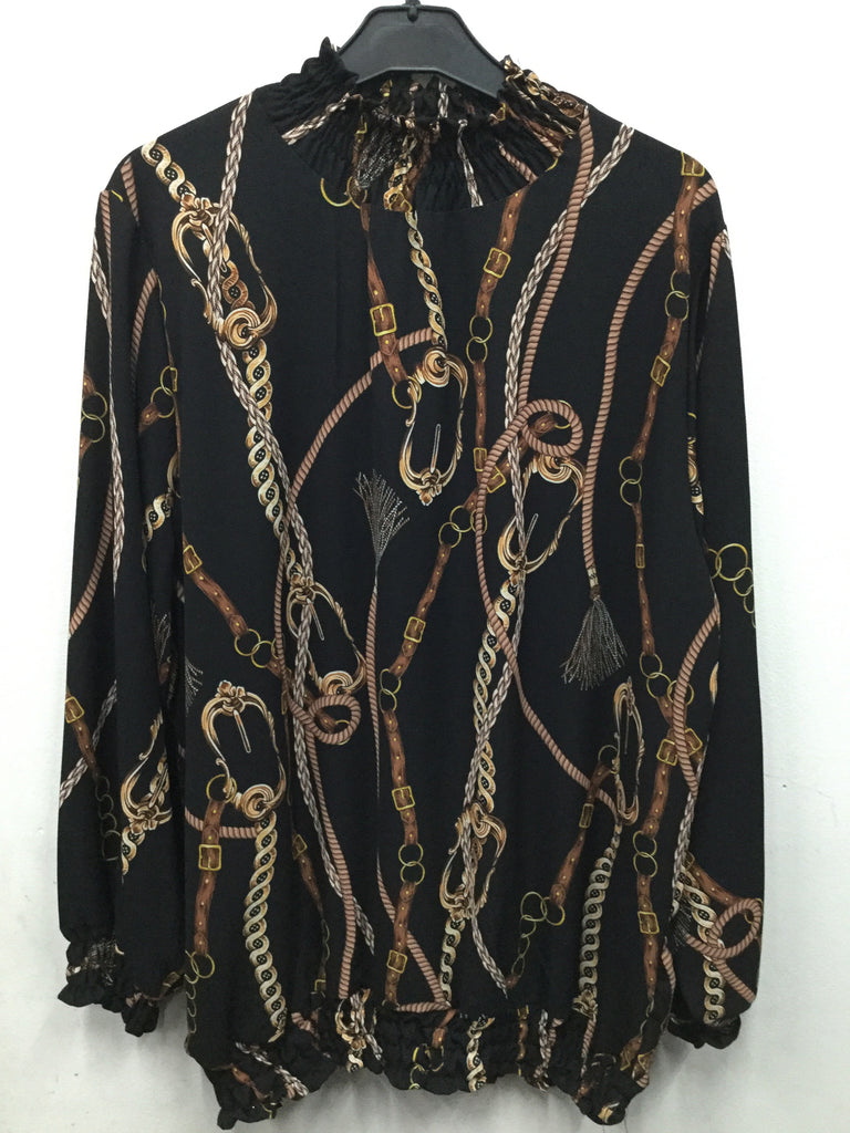 448-Ladies rope print top