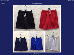 625-PE football school shorts