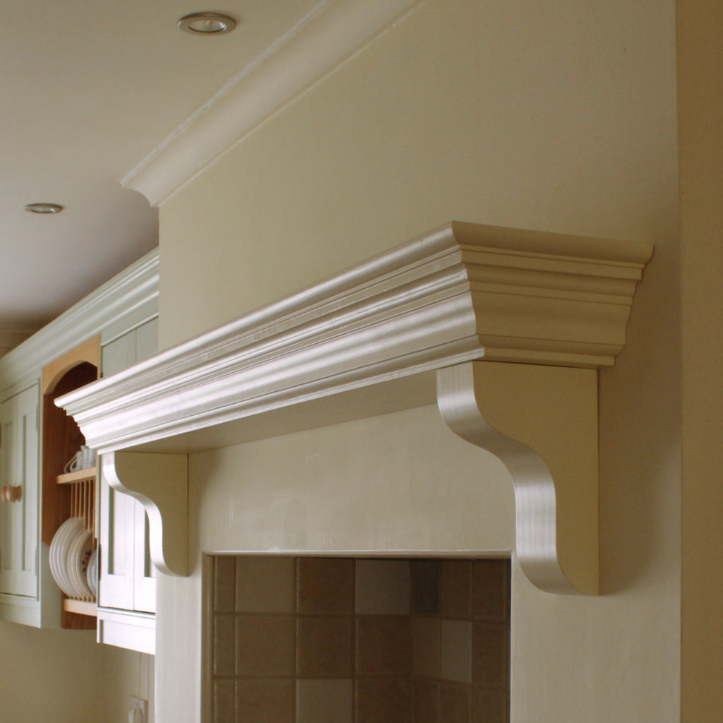 Handmade Victorian Solid Wood Mantel Piece, Floating Shelf ...