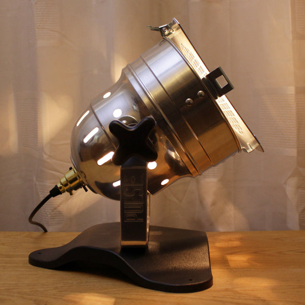 Table Lamp Theatre Spot Light On Plastic Base Short Polished Lux Foundry