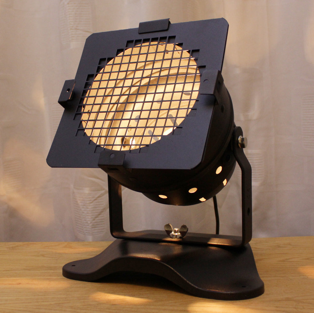 Table Lamp - Theatre Spot Light On Plastic Base - Short Black
