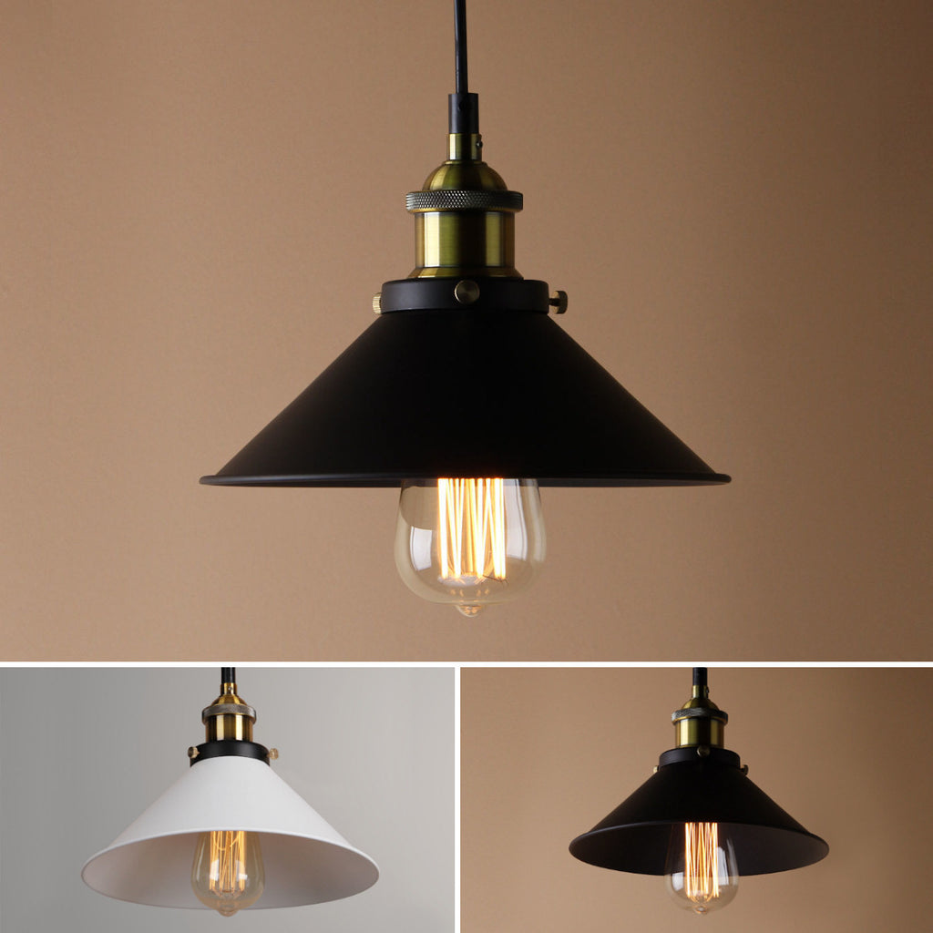 Cone Shaped Industrial Style - Indoor Ceiling Pendant Metal Lamp