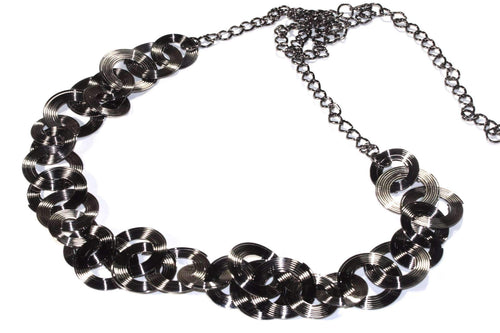 Multi Function Hematite Tone Ring Chain