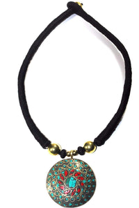 Mosaic Medallion Necklace by Wild Lotus