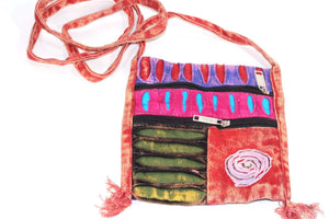 Green Spiral Cross Body Patchwork Passport Bag