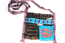 Load image into Gallery viewer, Stone Wash Peace Crossbody Patchwork Passport Bag by Wild Lotus