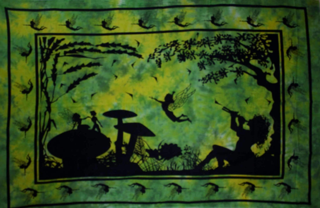 Green & Yellow Calling All Fairies Tapestry