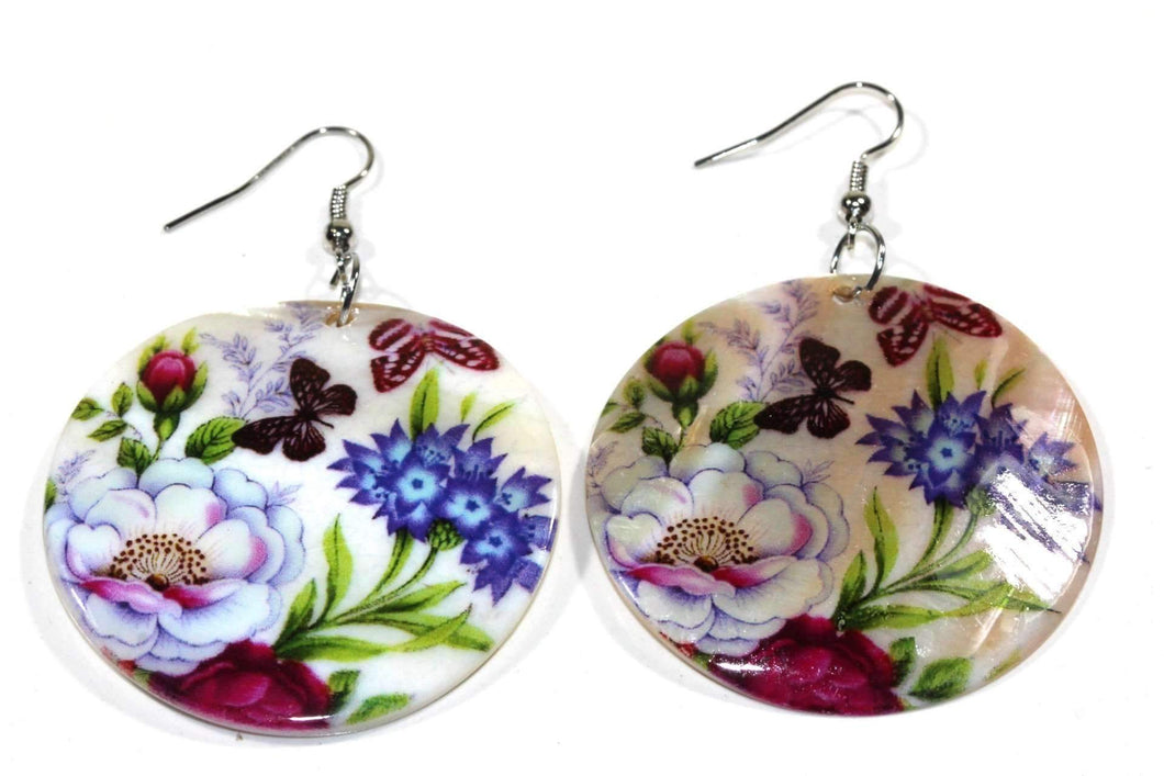 Butterfly Garden Mother Of Pearl Earrings