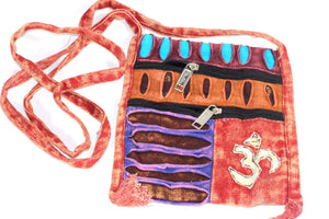 Om Cross Body Patchwork Jhola Bag by Wild Lotus