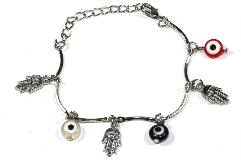 Multi Color Hamsa Hand & Evil Eye Protection Bracelet