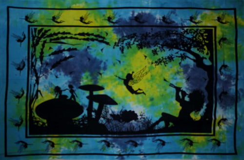 Yellow & Turquoise Calling All Fairies Tapestry