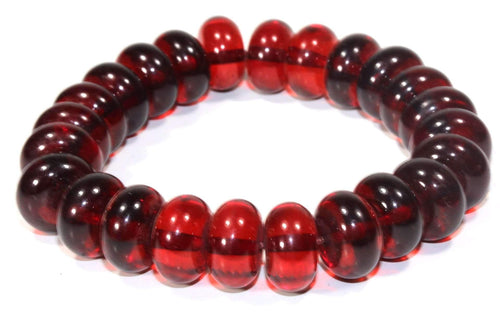 Glowing Wine Amber Red Bracelet