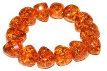 Load image into Gallery viewer, Chunky Glowing Baltic Style Amber Bracelet