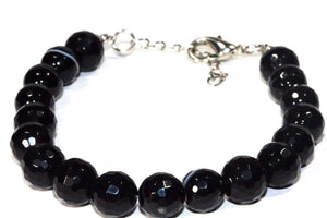 Black Agate Yoga Bracelet by Wild Lotus