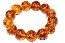 Load image into Gallery viewer, Round Glowing Baltic Style Amber Bracelet