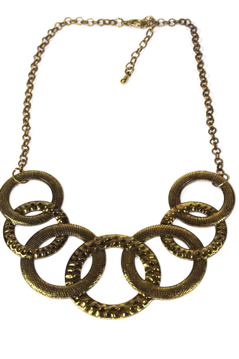 Hammered Circles Tribal Necklace