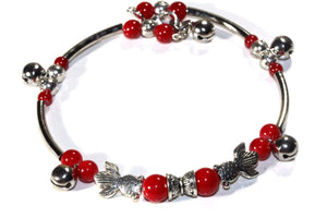 Somethings a Little Fishy Charm Red Bracelet