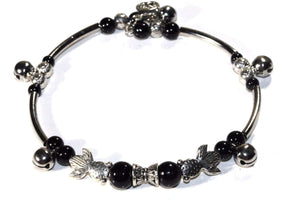 Somethings a Little Fishy Charm Black Bracelet