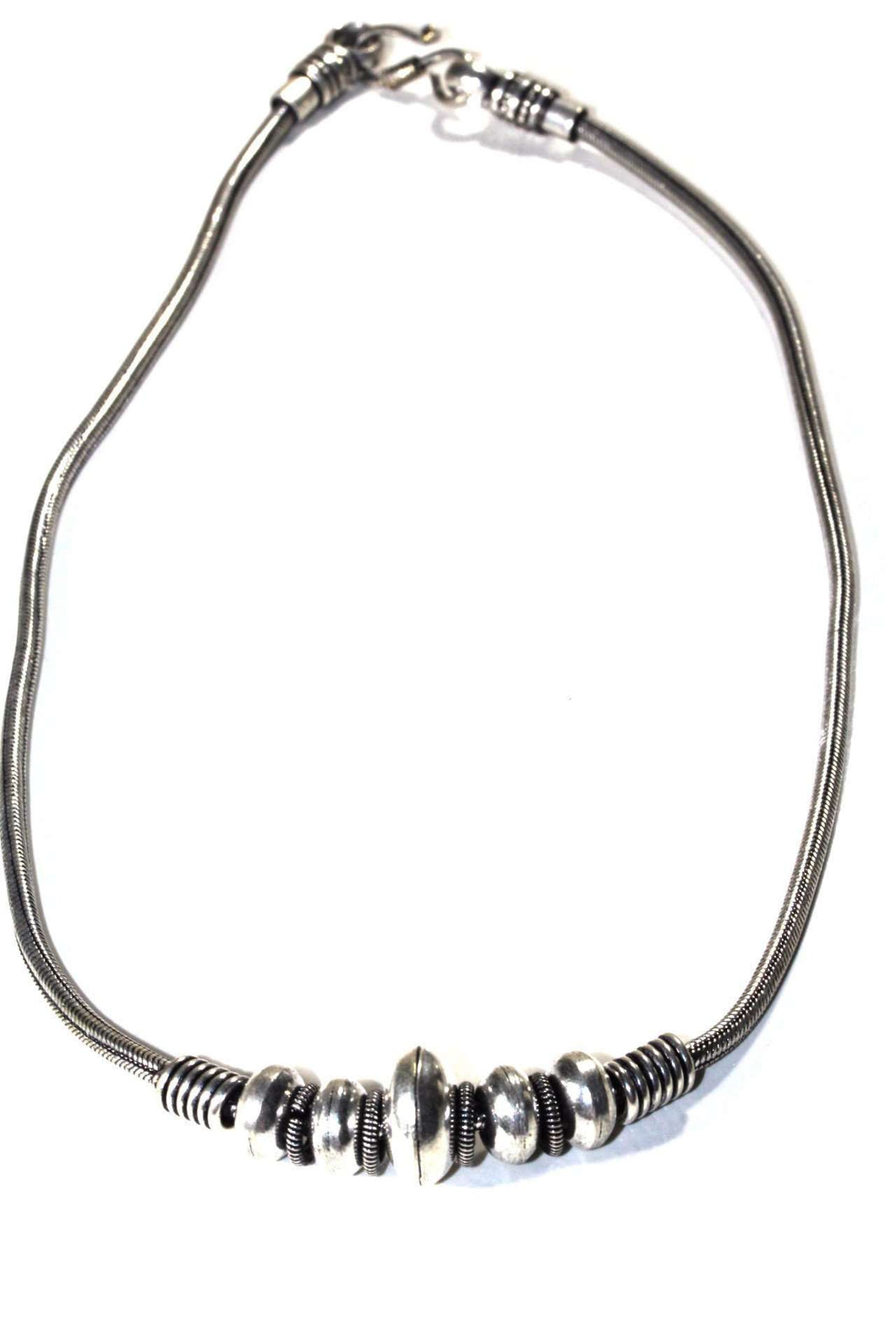Silver Tone Warrior Tribal Necklace