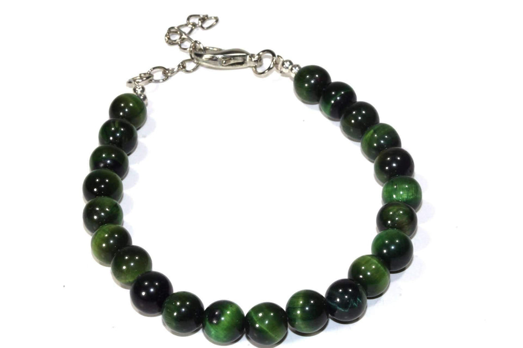 Green Round Agate Beads Yoga Bracelet
