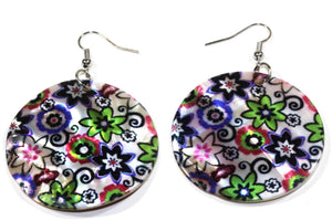 Blooming Flowers Mother Of Pearl Earrings
