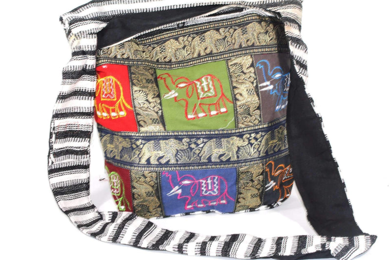 Carousel Of Elephants Jhola Sling Bag by Wild Lotus