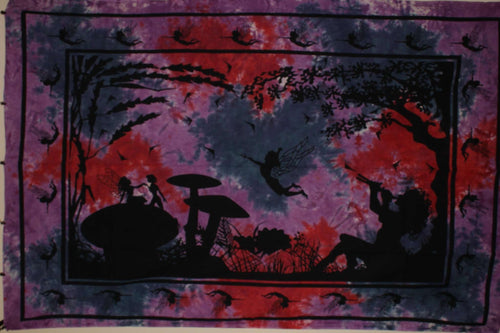 Purple & Pink Calling All Fairies Tapestry
