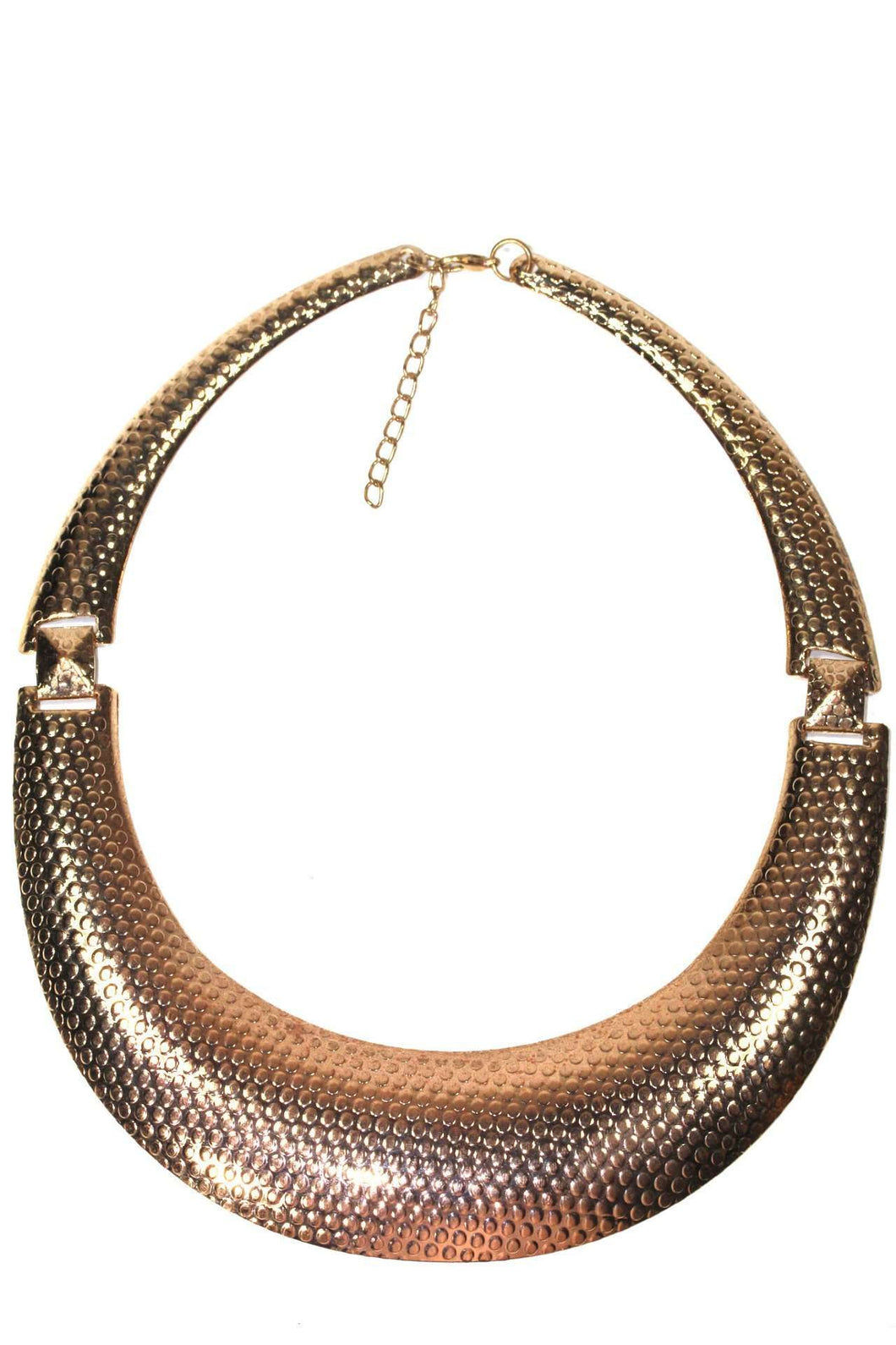 Rose Gold Tone Dotted Statement Necklace