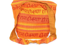 Load image into Gallery viewer, Light Saffron Hare Rama Hare Krishna Jhola Sling Bag