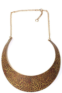 Animal Print Collar Necklace