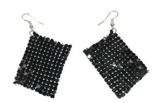 Load image into Gallery viewer, Onyx Shimmer Mesh Earrings