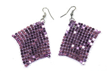 Load image into Gallery viewer, Purple Shimmer Mesh Earrings