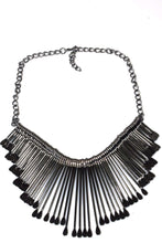 Load image into Gallery viewer, Antique Silver OAR Statement Necklace