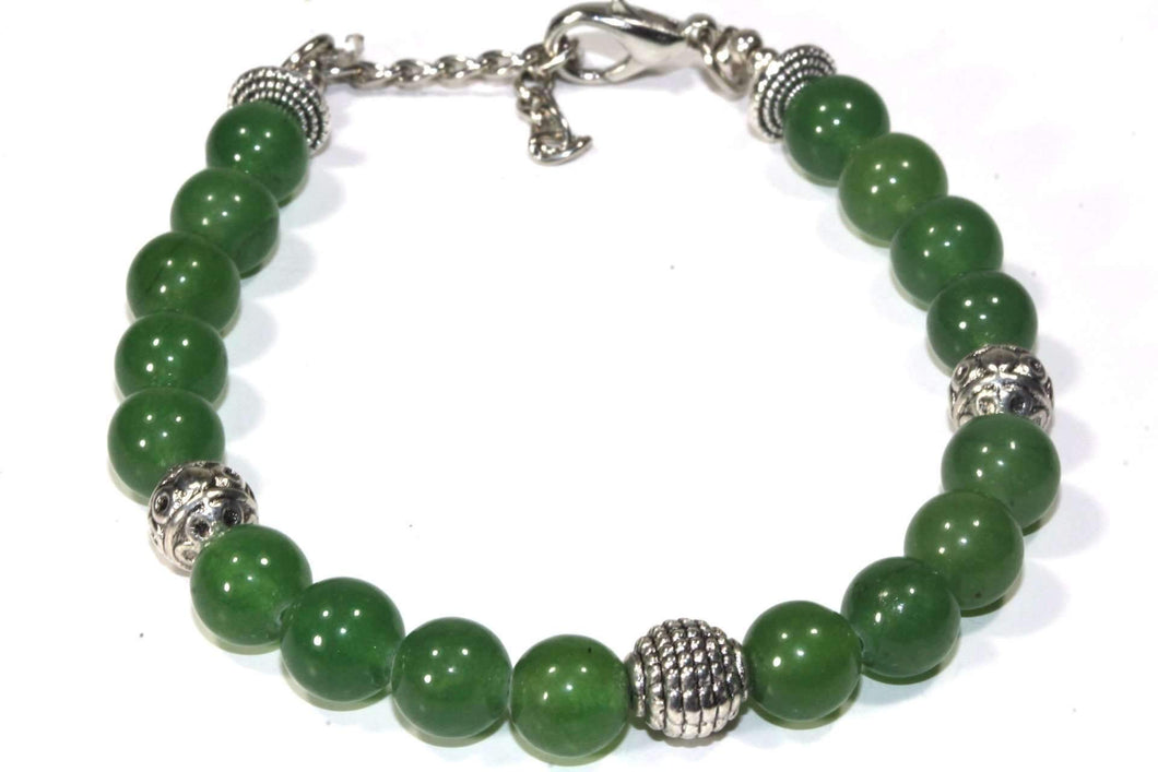 Green Agate Beads & Charms Yoga Bracelet