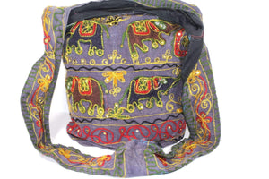 Multi Color Four Elephants Sling Jhola Bag