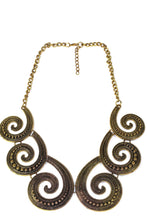 Load image into Gallery viewer, Antique Six Spirals Statement Necklace
