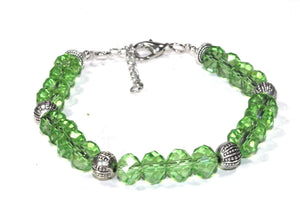 Sparkly Green Crystal Beads Bracelet