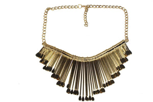 Gold Tone OAR Statement Necklace