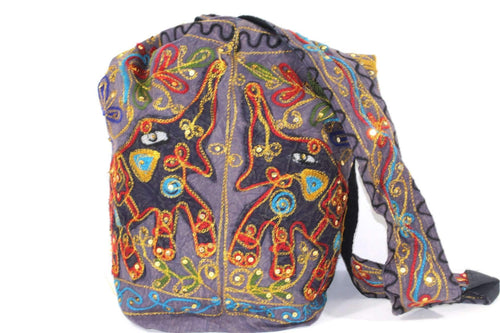 Mirror Work Festival Elephant Sling Jhola Bag