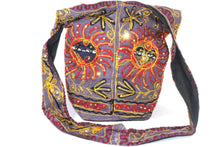 Load image into Gallery viewer, Purple Happy Black Sun Jhola Bag